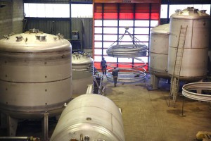 Manufacture of tanks for the chemical industry